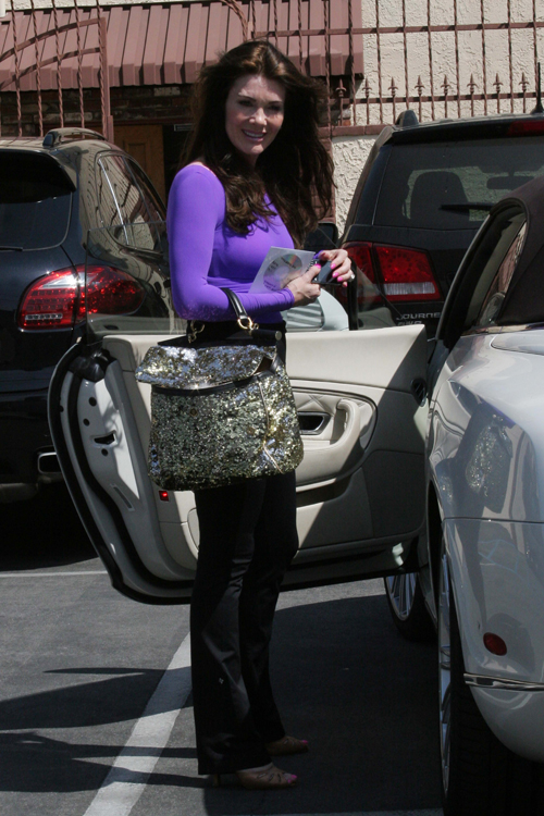 Lisa Vanderpump leaves Dancing with the Stars rehearsals with a Dolce & Gabbana Miss Sicily Bag (5)
