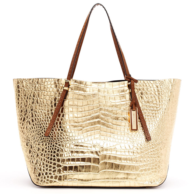 Michael Kors Gia Croc-Embossed Leather Tote