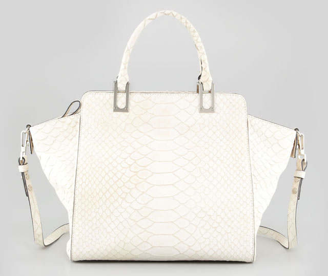 Milly Reece Snake-Embossed Tote