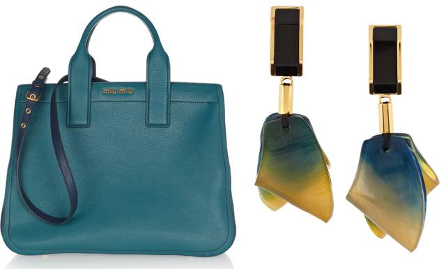 Miu Miu Tote Bag and Marni Resin Earrings