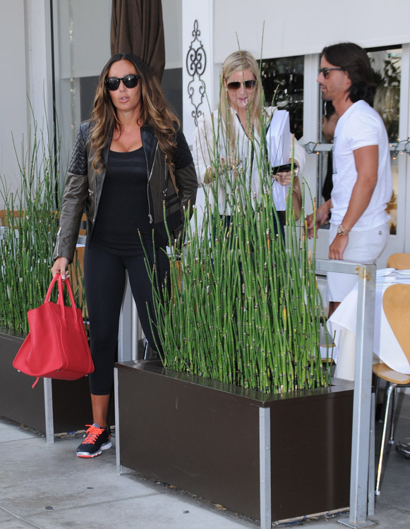 Tamara Ecclestone carries a pink Celine Phantom Luggage Tote in Beverly Hills (2)