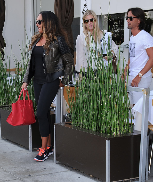Tamara Ecclestone carries a pink Celine Phantom Luggage Tote in Beverly Hills (1)