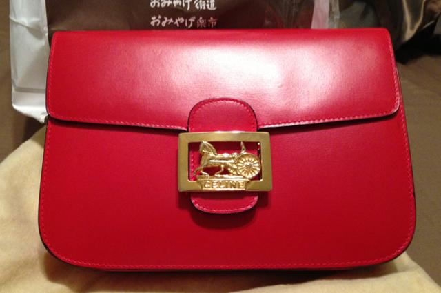 Vintage Red Celine Handbag