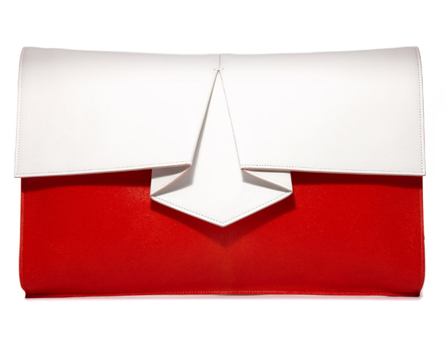 Vionnet Origami Haircalf Clutch