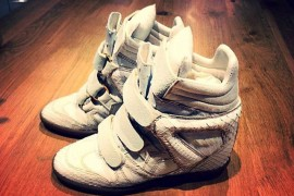 Beyonce's customized Isabel Marant Bekket Sneaker Wedges from PMK Customs