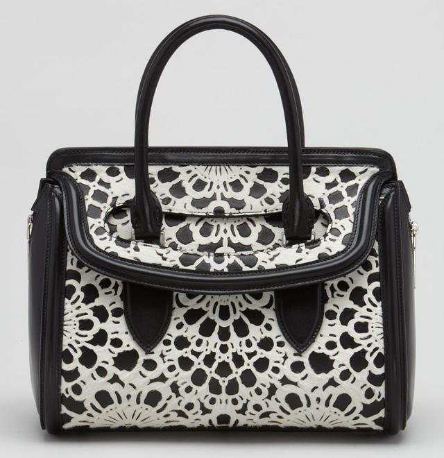 Alexander McQueen Heroine Laser-Cut Bag