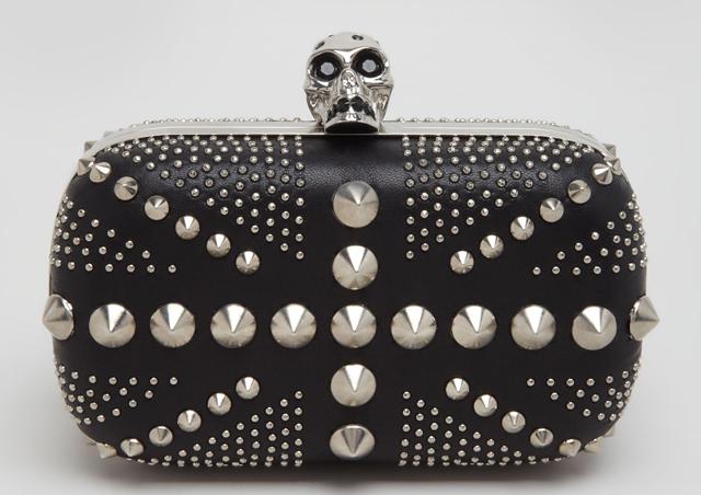 Alexander McQueen Studded Britannia Skull Clutch