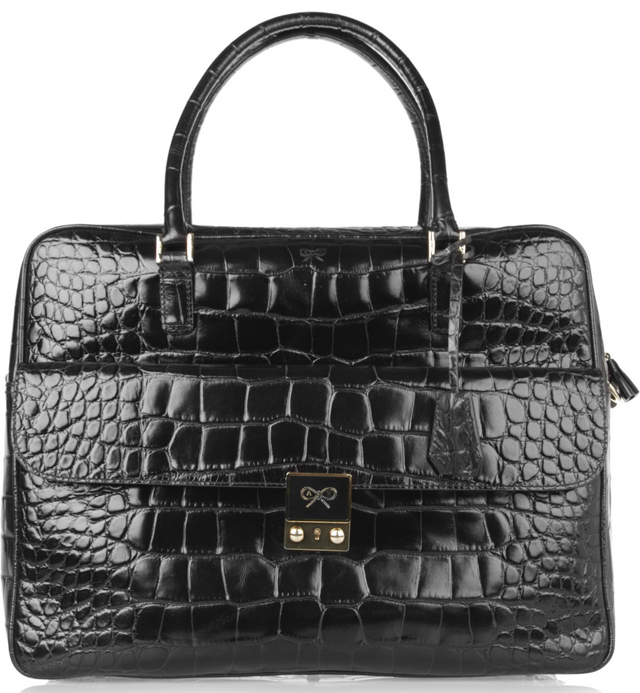 Anya Hindmarch Caudwell Croc Stamped Tote