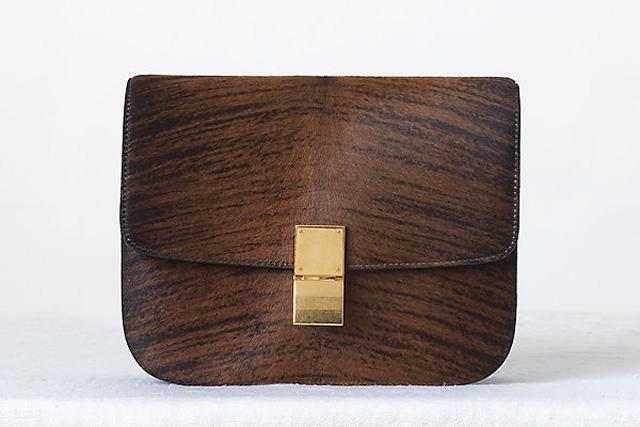 Celine Classic Box Bag Wood Grain Featured