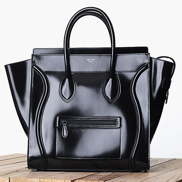 Celine Patent Leather Luggage Tote Fall 2013