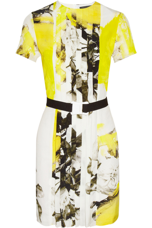 Christopher Kane Printed Silk Crepe de Chine Dress