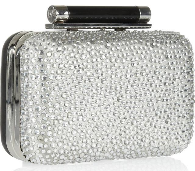 Diane von Furstenberg Tonda Crystal-Embellished Clutch