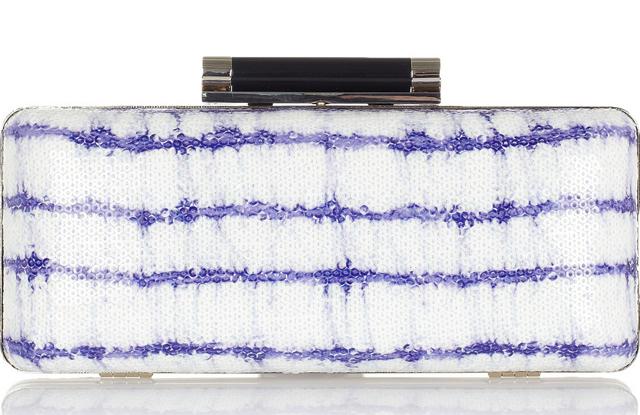 Diane von Furstenberg Tonda Sequined Box Clutch