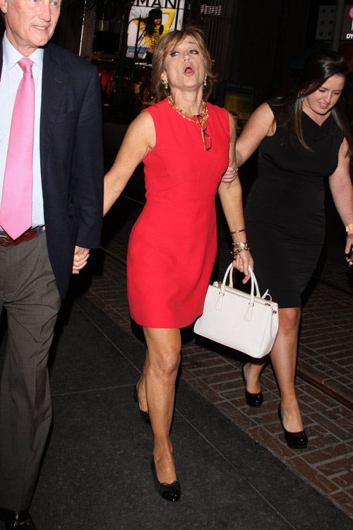 "Dorothy Hamill carries a white Prada Saffiano Luxe Tote to an after-party for ""Dancing with the Stars"" (2)"