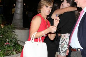 "Dorothy Hamill hits the ""Dancing with the Stars"" after-party with a Prada tote"