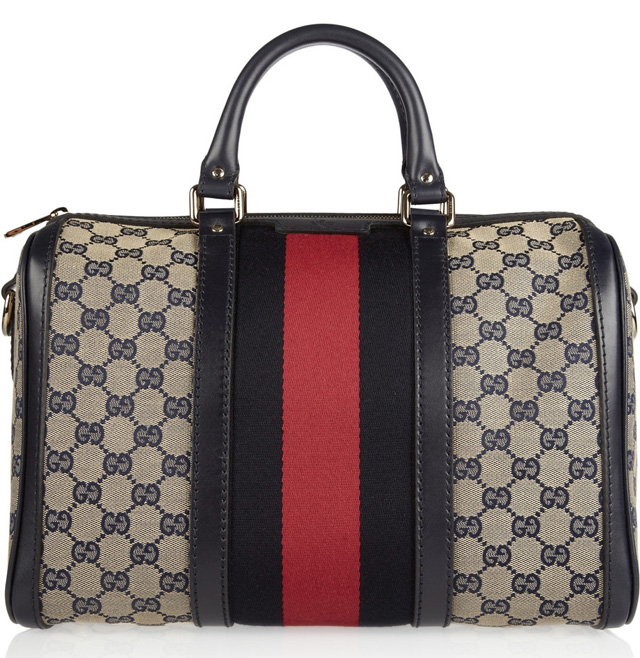 Gucci Vintage Web Boston Duffel Bag