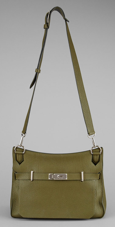 Hermes Olive Green Leather Jypsiere