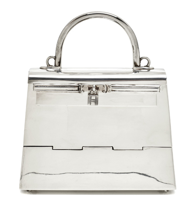 Hermes Sterling Silver Mini Kelly