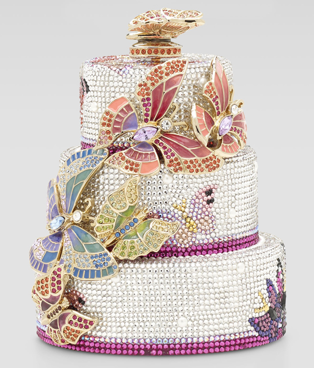 Judith Leiber Butterfly Cake Minaudiere