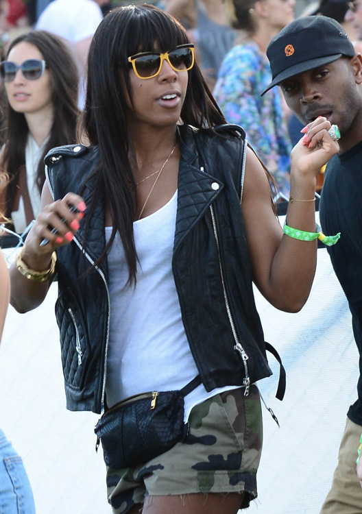 Kelly Rowland Python Belt Bag Coachella