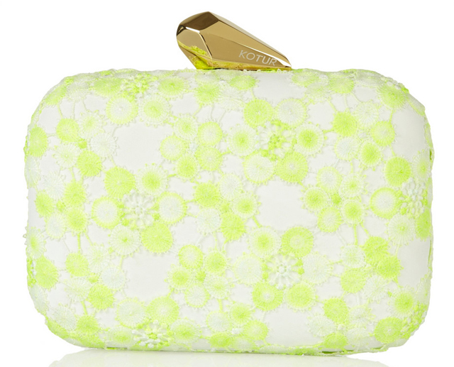 Kotur Morely Neon Lace Clutch