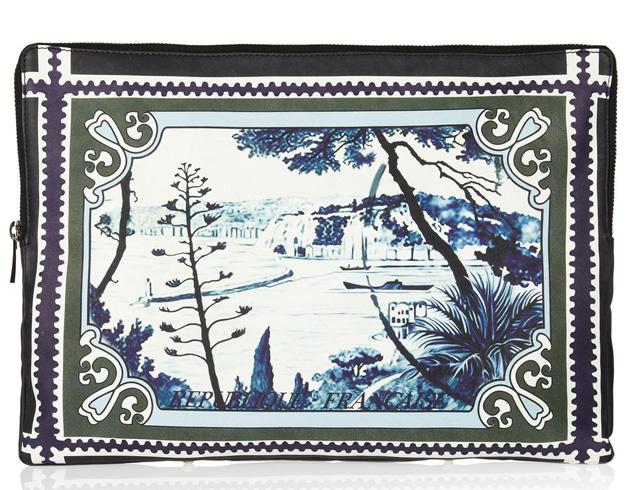 Mary Katrantzou Kathmandu Printed Leather Pouch