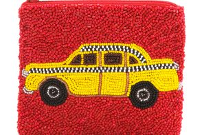 Stow your cab fare in this adorable taxi pouch