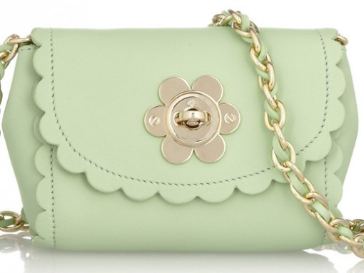 Mulberry Flower Mini Leather Shoulder Bag