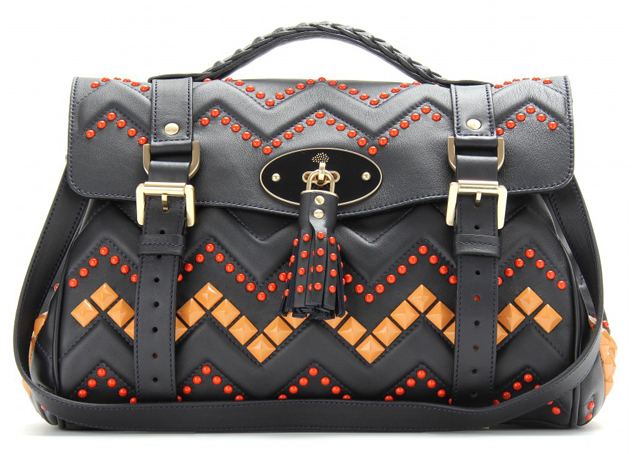 Mulberry Zigzag Studded Bag