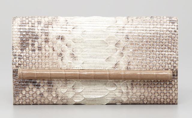 Nancy Gonzalez Python and Glitter Clutch