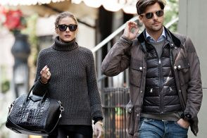 Olivia Palermo sports a beautiful Givenchy bag next to her beautiful fiancé