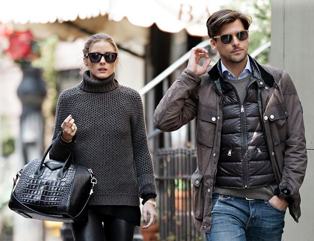 Olivia Palermo carries a black, crocodile-embossed Givenchy Antigona Bag (5)