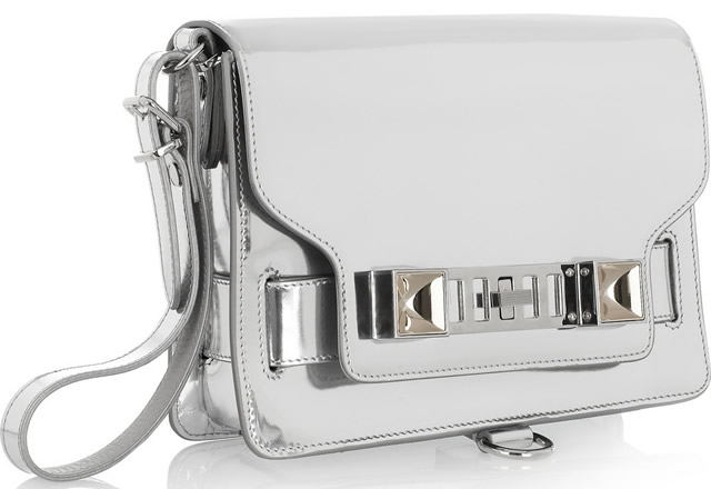 Proenza Schouler PS11 Mirrored Leather Wristlet