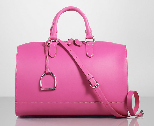 Ralph Lauren Stirrup Boston Bag