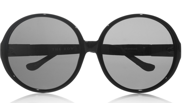 The Row Oversized Round-Framed Acetate Sunglasses