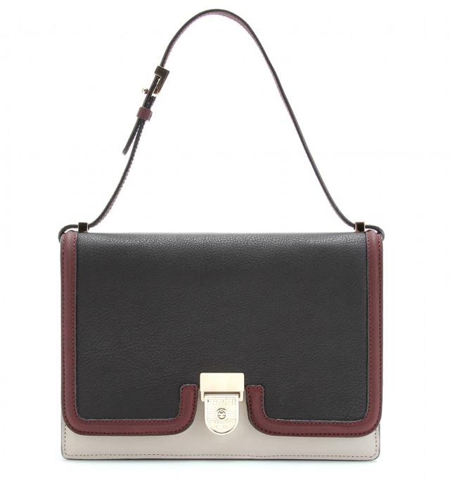Victoria Beckham Colorblock Leather Shoulder Bag