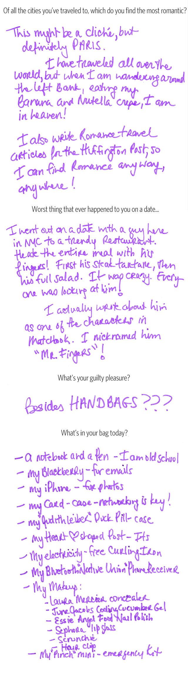 What's In Her Bag: Samantha Daniels (4)