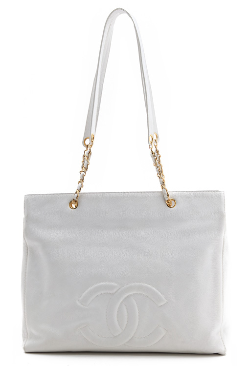 Chanel Caviar Large Tote Bag from What Goes Around Comes Around