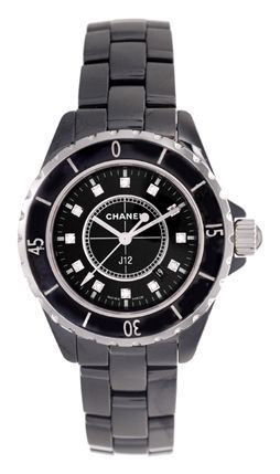 Chanel J12 Black Ceramic Diamonds Ladies Watch