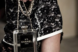 Chanel No. 5 Perfume Bottle Clutch Clear