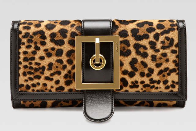 Gucci Lady Buckle Jaguar-Print Clutch