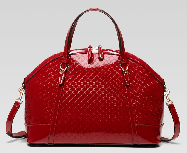 Gucci Nice Microguccissima Patent Large Top Handle