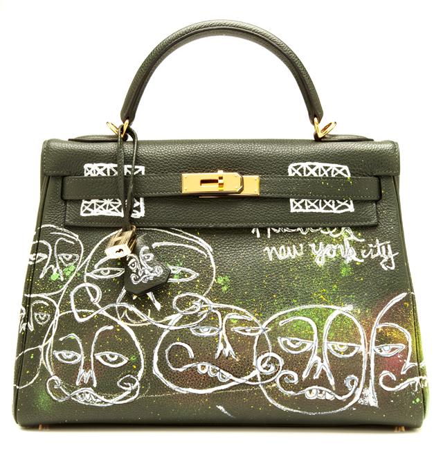Hermes Kelly Bag 32cm with Haculla Graffiti