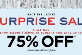 Kate Spade Surprise Sale Notice