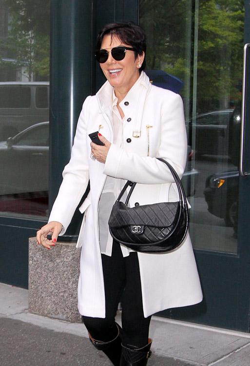 Kris Jenner carries a black Chanel Hula Hoop Flap Bag (2)