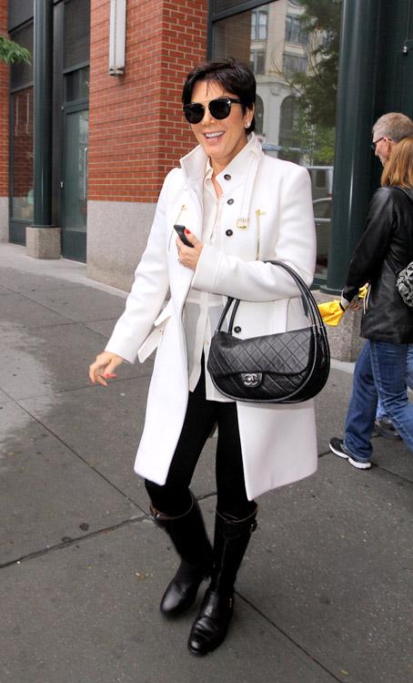Kris Jenner carries a black Chanel Hula Hoop Flap Bag (3)