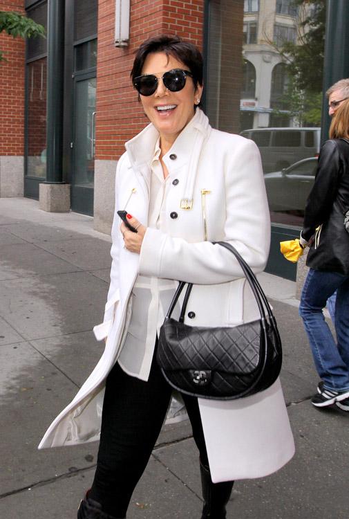 Kris Jenner carries a black Chanel Hula Hoop Flap Bag (4)