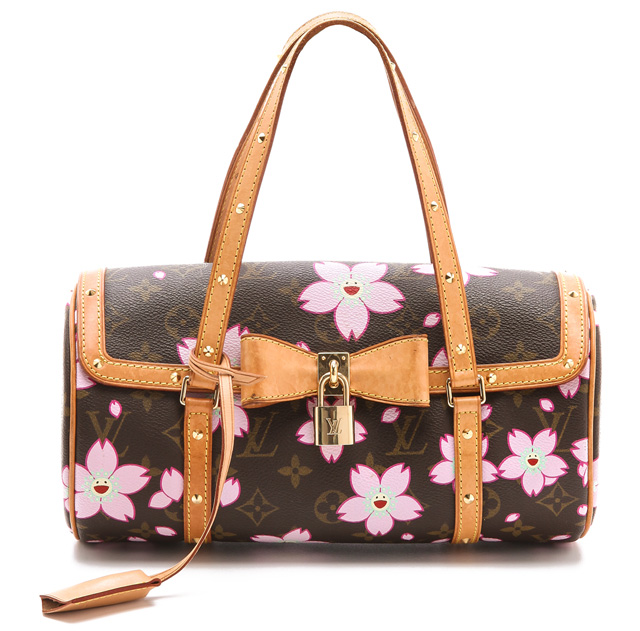 Louis Vuitton Murakami Papillon Cherry Blossom Bag from What Goes Around Comes Around