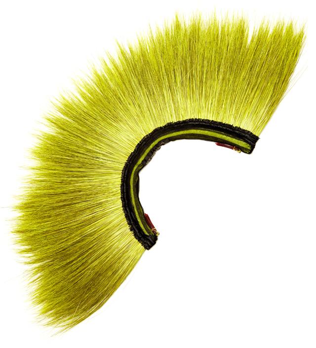 New York Vintage Lime Peacock Mohawk
