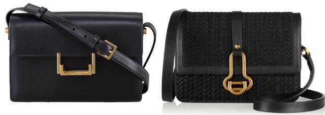 Saint Laurent and Maiyet Black Shoulder Bags